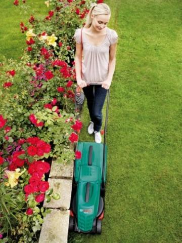 Bosch DIY Rasenmäher Rotak 32, Grasfangbox 31 l (1200 W, Schnittbreite 32 cm, Schnitthöhe 20-60 mm) -