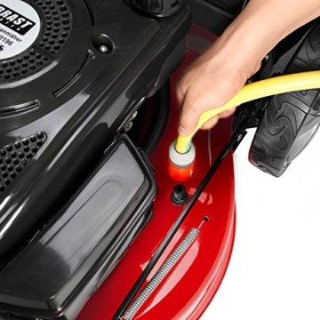 BRAST Benzin Rasenmäher 20196 POWER 4,4kW (6PS) incl. Selbstantrieb GT Markengetriebe 196ccm kugelgelagerte Big-Wheeler-Räder Stahlblechgehäuse Easy Clean 51cm Schnittbreite -