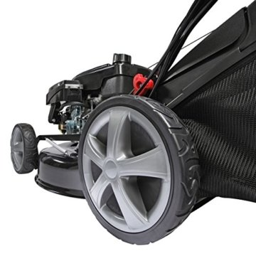 Benzin Rasenmäher BRAST 4 in 1 18196 4,4kW (6PS) incl. Selbstantrieb GT Markengetriebe kugelgelagerte Big-Wheeler-Räder Stahlblechgehäuse Easy Clean -