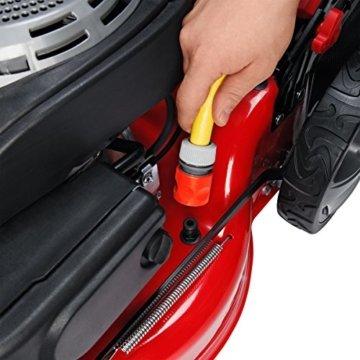 BRAST BENZIN ECO Rasenmäher Motormäher 2,5kW (3,4PS) Mäher Benzinmäher Trimmer kugelgelagerte Big-Wheeler-Räder Stahlblechgehäuse Easy Clean 46cm Schnittbreite -