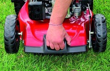 Einhell Benzin Rasenmäher GC-PM 46/2 S HW-E (1,9 kW, 139 cm³, Schnittbreite: 46 cm, zentrale Schnitthöhenverstellung: 6 Stufen | 30-80 mm) -