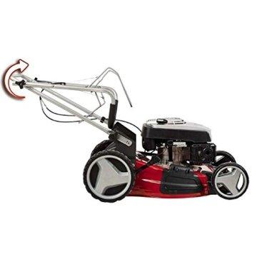 Einhell Benzin Rasenmäher GC-PM 51/2 S HW (2,7 kW, 173 cm³, 51 cm Schnittbreite, 70 l Fangsack, Mulchfunktion, Highwheeler) -
