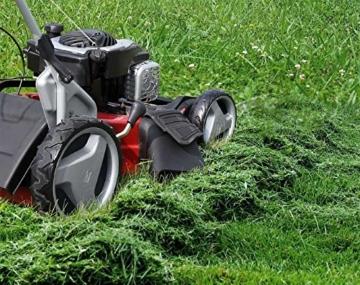 Einhell Benzin Rasenmäher GC-PM 51/2 S HW B und S (2,22 kW, 150 cm³, Schnittbreite: 51 cm, Schnitthöhenverstellung: 6 Stufen | 30-80 mm, Fangsackvolumen: 70 l) -