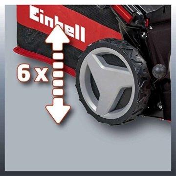 Einhell Benzin Rasenmäher GE-PM 53 VS HW B&S (2,3 kW, 150 cm³, Schnittbreite 53 cm, 6-fache Schnitthöhenverstellung 25-70 mm, 4-Gang Variospeed GT Getriebe) -