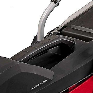Einhell Elektro Rasenmäher GC-EM 1030 (1000 W, 30 cm Schnittbreite, 25 l Fangbox, 30-70 mm Schnitthöhe, klappbarer Führungsholm, leicht und robust) -