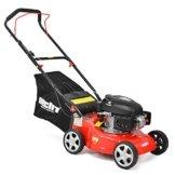 HECHT Benzin-Rasenmäher 40 Benzin-Mäher (3,5 PS Motorleistung, 40,6 cm Schnittbreite, 3-fache Schnitthöhenverstellung 25-70 mm, 40 L Fangsack) -