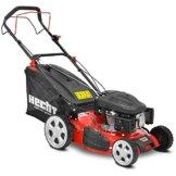 HECHT Benzin-Rasenmäher 551 SX Benzin-Mäher (6 PS Motorleistung, 51 cm Schnittbreite, Schnitthöhenverstellung 25-65 mm, 55 L Fangsack) -
