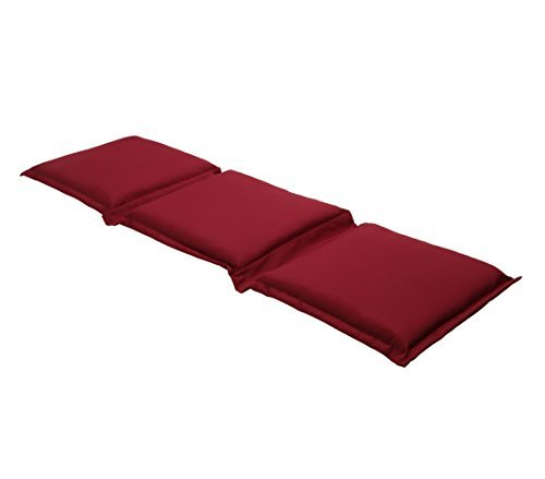 dehner flexbankpolster uni 3 sitzer ca 140 160 x 45 x 7 cm polyester rot rasenm her. Black Bedroom Furniture Sets. Home Design Ideas