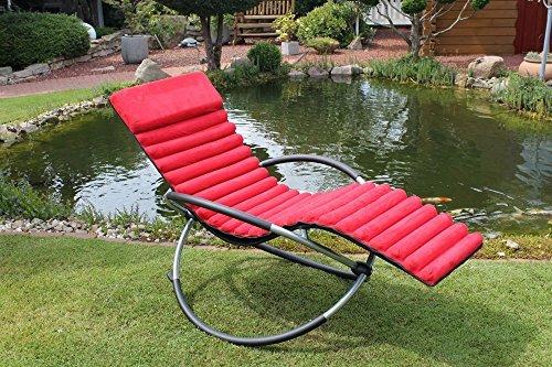 leco 39398104 schaukelstuhlkissen 100 polyester in rot schaumstofff llung nylongewebe. Black Bedroom Furniture Sets. Home Design Ideas