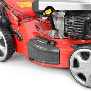 HECHT Benzin-Rasenmäher 5534 SX Benzin-Mäher (4,4 kW (6,0 PS), Schnittbreite 51 cm, 60 Liter Fangkorbvolumen, 7-fache Schnitthöhenverstellung 25-75 mm, Radantrieb) -