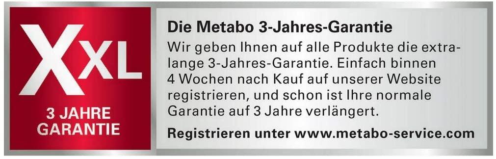 Metabo Garantie