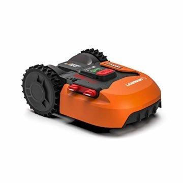 Worx Landroid S WR130E Mähroboter/Akkurasenmäher für kleine Gärten bis 300 qm/Selbstfahrender Rasenmäher für einen sauberen Rasenschnitt - 1